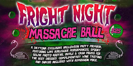 "Where The ""Ghouls"" Are- Fright Night Massacre Ball tickets"