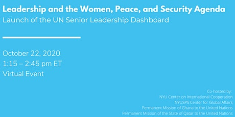 Leadership and the Women, Peace, and Security Agenda tickets