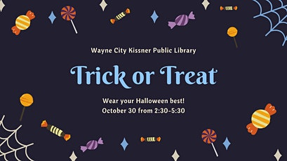 Library Trick or Treat tickets