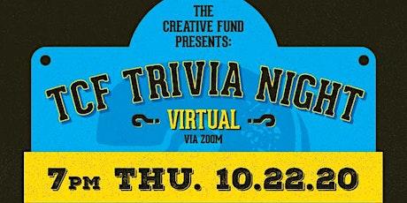 The Creative Fund Virtual Trivia Night (10/22/20) tickets
