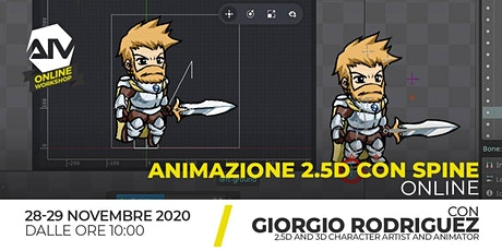 ONLINE WORKSHOP - Animazione 2.5 D con Spine biglietti