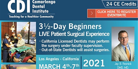 3 and 1/2-Day Beginners LIVE Patient Surgical Experience tickets