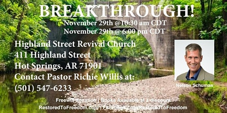 Breakthrough in Hot Springs, AR tickets
