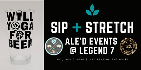 SIP + STRETCH Beer Yoga at Legend 7 Brewing - Nov 7 tickets