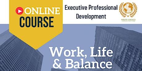 Work, Life & Balance boletos