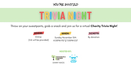 CSW's Charity Trivia Night tickets