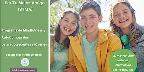 Jornada Informativa Gratuita Mindfulness y  Autocompasión Adolescentes entradas