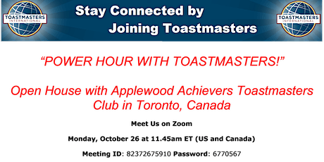 Virtual Open House with Applewood Achievers Toastmasters Club tickets