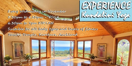 Experience Kundalini Yoga, 4 week Introduction Workshop Live & via ZOOM NOV tickets