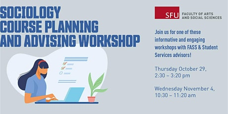 Sociology course planning and advising workshop tickets