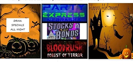 Party Express Bus Presents the Stocks N Bonds/BloodRush Halloween Terror tickets