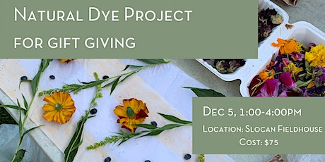 Natural Dye Project For Gift Giving tickets