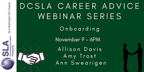 DC SLA Career Advice Webinar: Onboarding tickets