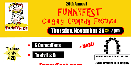 Thursday, November 26 @ 7 pm - Festival Favourites - 20th Annual FunnyFest tickets