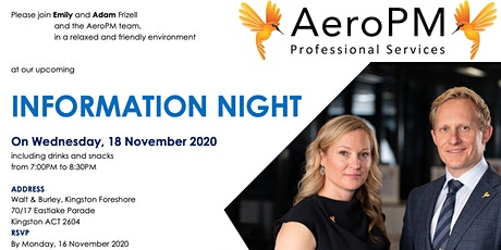 AeroPM Recruitment Information Night tickets