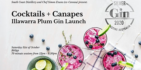 Canapes + Cocktails - Illawarra Plum Gin Launch at South Coast Distillery tickets