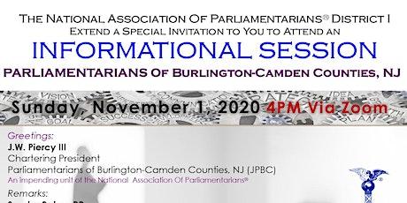 Parliamentarians of Burlington & Camden Counties (NJ) Informational Meeting tickets