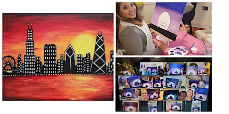 "Live Virtual Painting Class ""Sunset Skyline"" tickets"