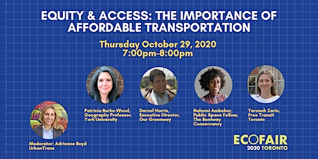 Webinar:  Equity & Access: the Importance of Affordable Transportation tickets