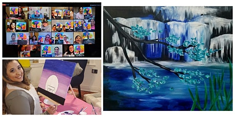 "Live Virtual Painting Class ""Waterfall"" tickets"