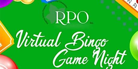 RPO, Inc., Virtual Bingo and Game Night tickets