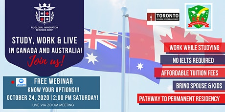 FREE WEBINAR to CANADA and AUSTRALIA tickets