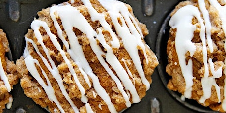 UBS - Virtual Cooking Class: Coffee Cake Muffins with Cream Cheese Drizzle tickets
