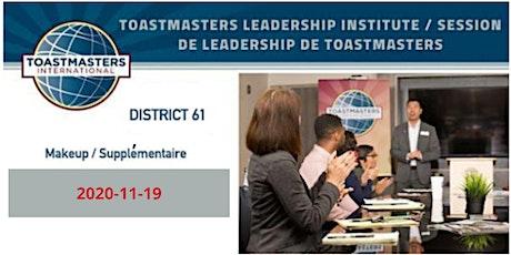 Toastmasters Leadership Institute / Session de leadership de Toastmasters tickets