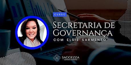 SECRETARIA DE GOVERNANÇA - O Desenvolvimento do Profissional de Governança bilhetes