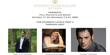 Fall 2020 Master Class Series at Steinway tickets