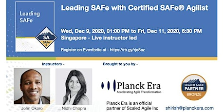 Leading SAFe 5.0 - Singapore - 9th Dec tickets