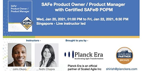 SAFe Product Owner / Product - 31st March - Singapore tickets