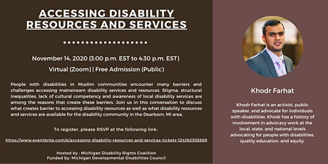Accessing Disability Resources and Services tickets
