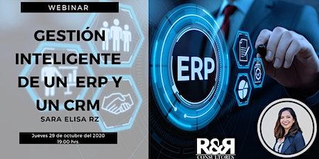 Webinar Gestión inteligente  de un  ERP Y un CRM boletos