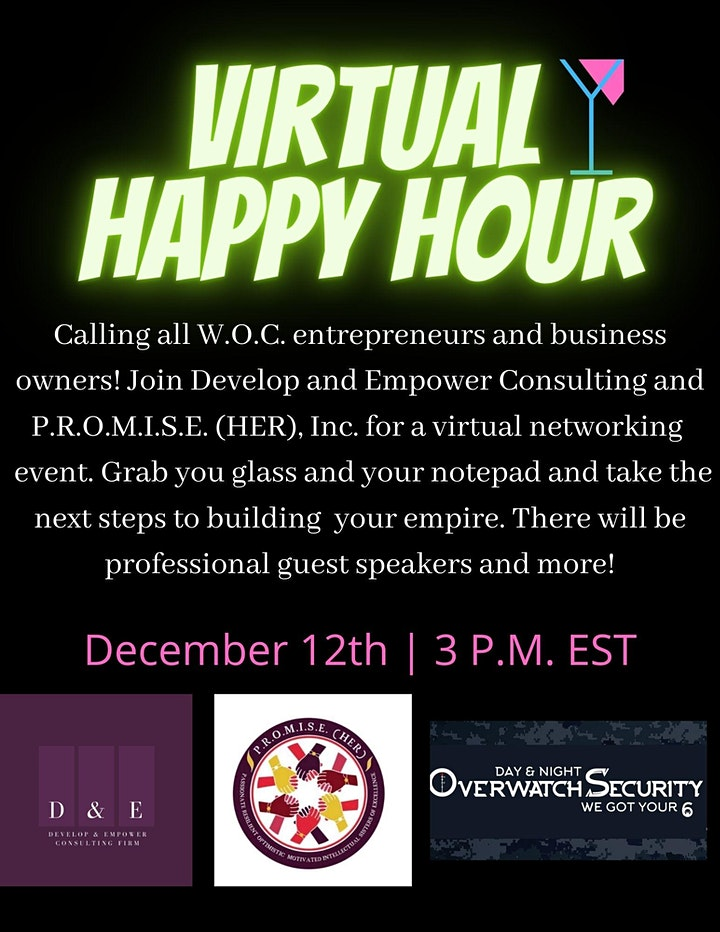 Virtual Happy Hour: Women of Color Entrepreneurs and Business Owners image