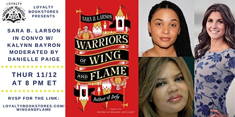 Sara B Larson, Kalynn Bayron + Danielle Paige for Warriors of Wing & Flames tickets