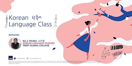 Korean Language Class tickets