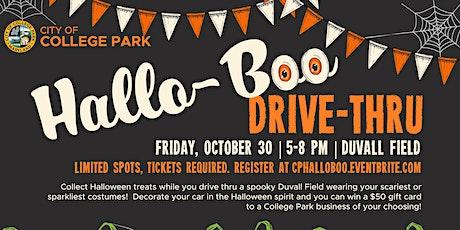 Hallo-Boo Drive-Thru tickets