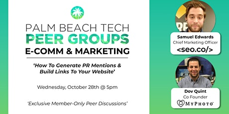 E-COMM & MKTG PEER GROUP | How to Generate PR Mentions & Links to your Site tickets