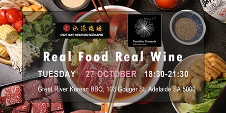 Real Food Real Wine12 - Dandelion Vineyards with Great River Korean BBQ tickets