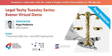Legal Techy Tuesday Series: Evenor Virtual Demo tickets