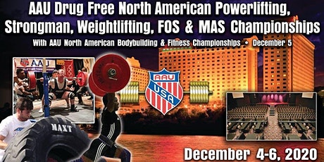 AAU North American Powerlifting. Weightlifting, Bodybuilding and Awards tickets
