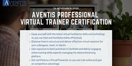 ‌Aventis‌ ‌Professional‌ ‌Virtual‌ ‌Trainer‌ ‌Certification‌ - Preview tickets