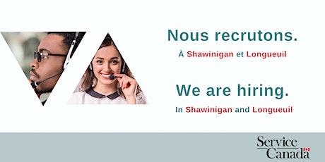 Séances d'information : Service Canada recrute! billets