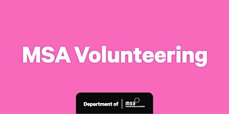 MSA Volunteering: Zoom Information Sessions tickets