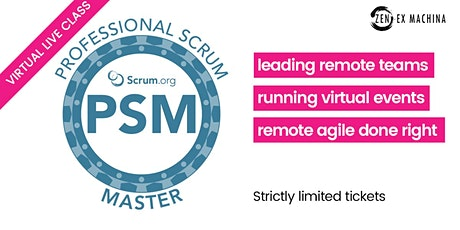 Professional Scrum Master certification (PSM I) tickets
