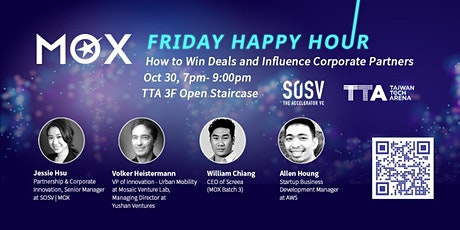 MOX HAPPY HOUR: How to Win Deals and Influence Corporate Partners tickets