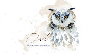 Owl - Watercolour Workshop [ONLINE] tickets