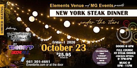 New York Steak Dinner tickets