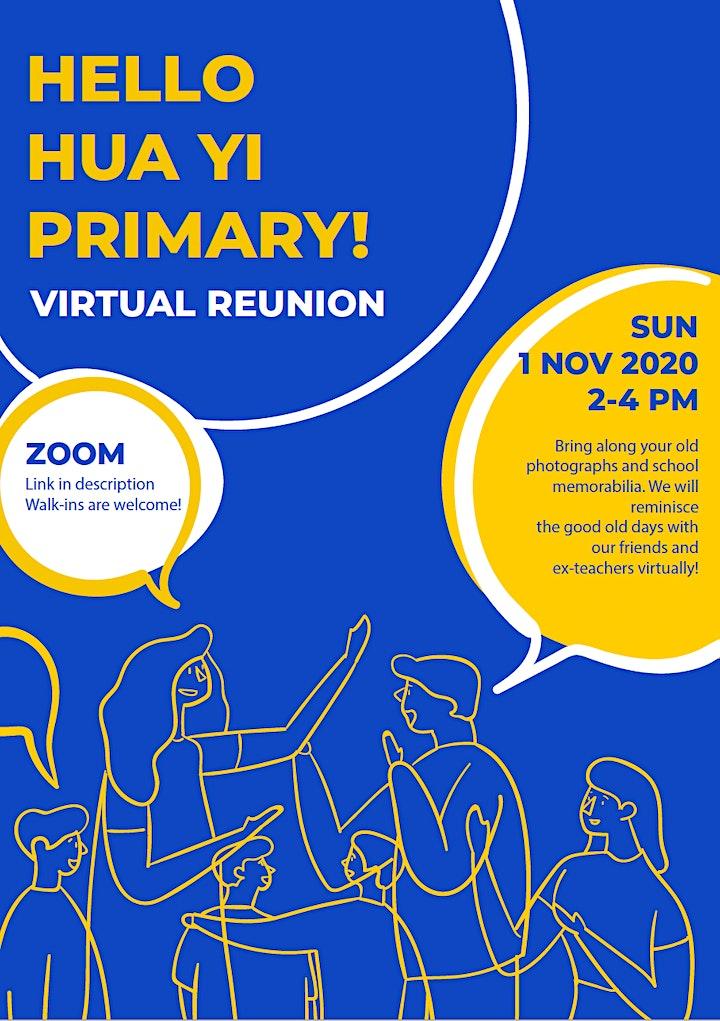 Reunion @ My Queenstown - Hua Yi Primary School (Virtual) image
